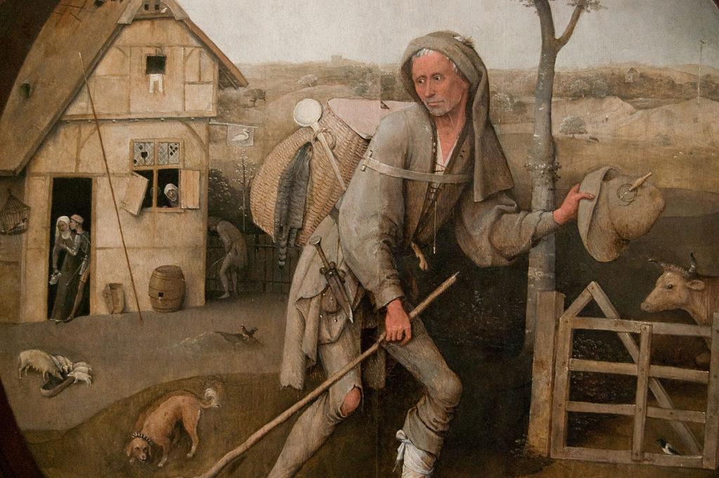 De landloper, schilderij van Jheronimus Bosch