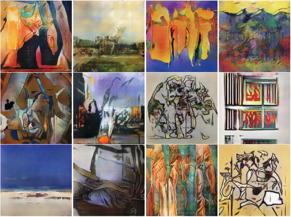 Schilderijen gemaakt door het algoritme CAN